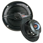"Boss Audio MR-50 5 1/4"" Black Coaxial (Pair) Waterproof Marine Speakers"