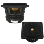 "DC Gold Audio N4C 4"" Black 300 Watt Neodymium Waterproof (pair)  Marine Speakers"