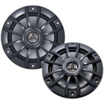 "Kenwood KFC1653MRG Gray 6 1/2"" Coaxial 150 Watts (pair) Waterproof Marine Speakers"