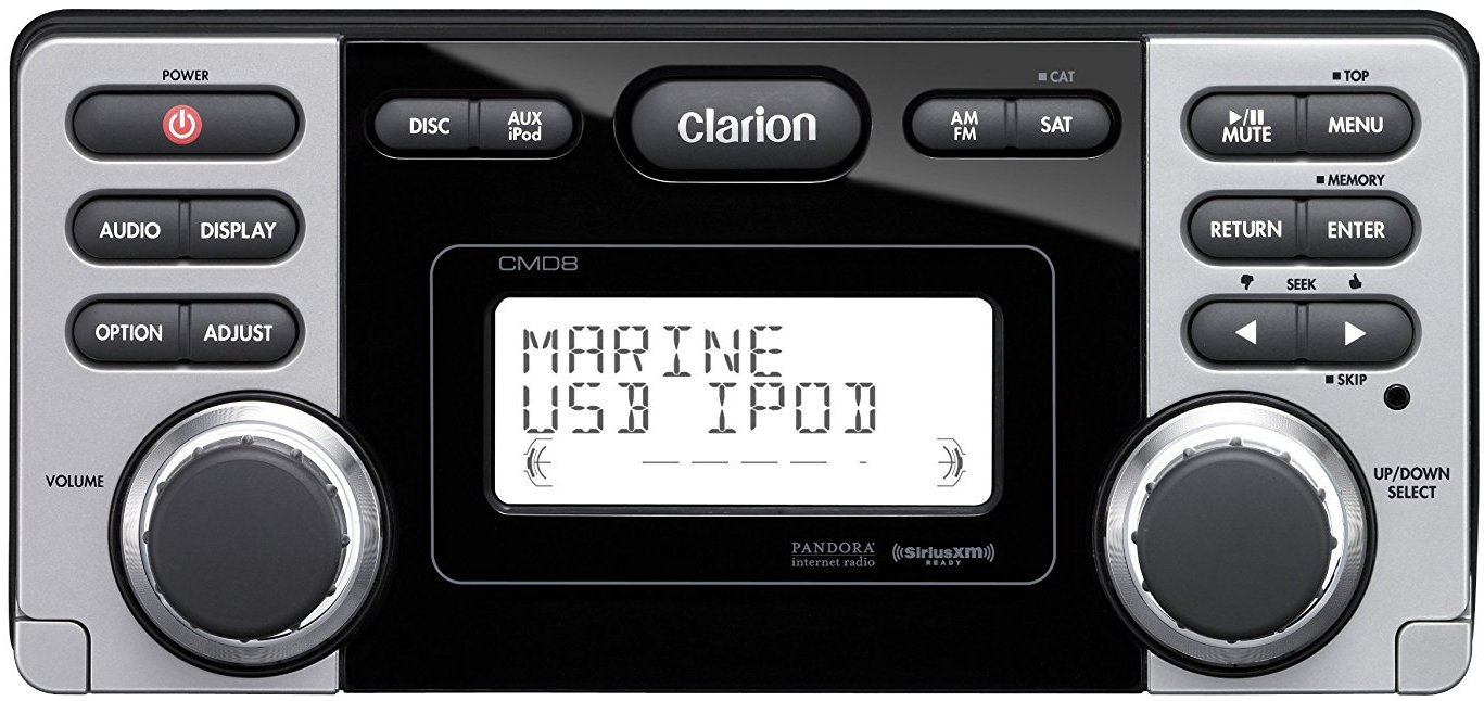 Get 2019s Best Deal On Clarion Cmd8 Marine Stereo Rock The Boat Audio Ipod Usb Connector Wiring Connection Am Fm Radio Receiver Cd Player Siriusxm Satellite Ready Port Control Waterproof