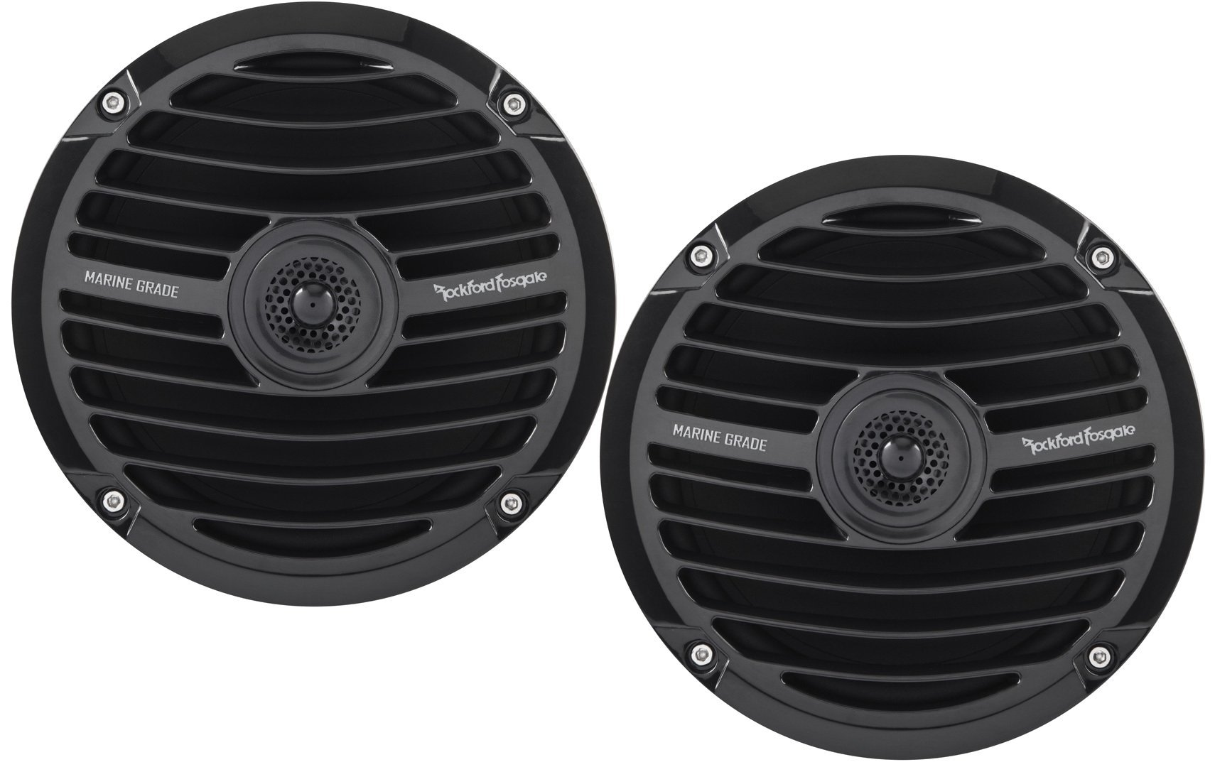 "NEW Pair Rockford Fosgate RM0652 6.5/"" 2-Way White Marine Boat Speakers Coaxial"