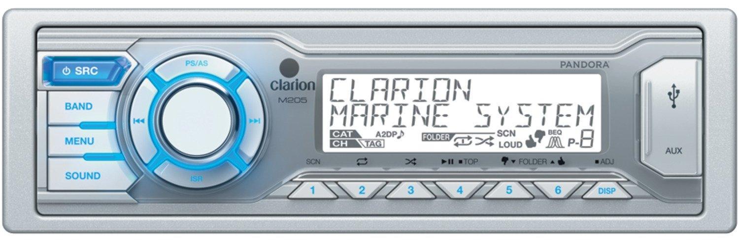 Get 2018\'s Best Deal On Clarion M205 Marine Stereo | Rock The Boat Audio
