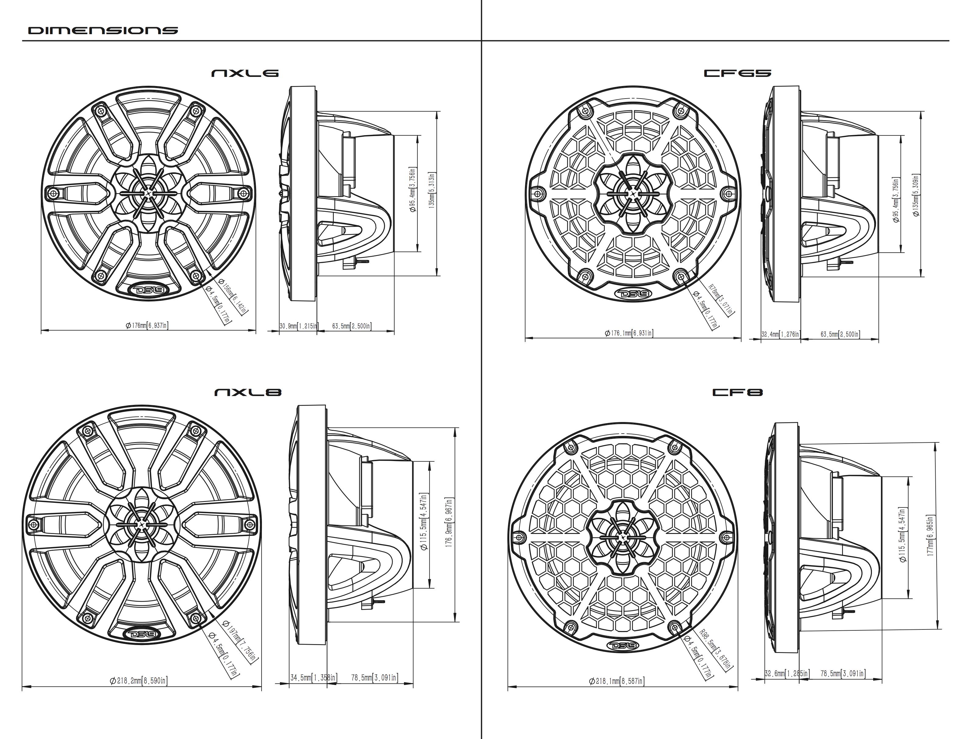 ds18 nxl6 marine speakers